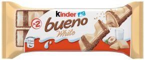 Вафли KINDER Bueno в белом шоколаде 39г