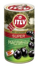 Маслины ITLV супер черные б/к ключ 350г