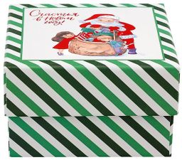 Коробка упаковочная д/подарков,р.11х11х6,5см