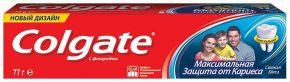 Зубная паста COLGATE Максим защита от кариеса Свежая мята со фтором и кальцием 100мл
