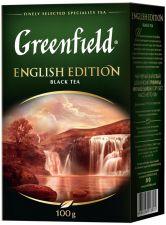 Чай чёрный GREENFIELD Инглиш Эдишн лист байховый цейлонский 100г