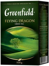 Чай зеленый GREENFIELD Flying Dragon лист. к/уп 100г
