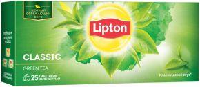 Чай зеленый LIPTON Байховый Classic Green Tea д/раз. завар. к/уп 25пак