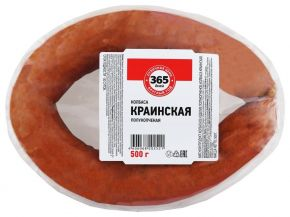 Колбаса 365 ДНЕЙ Краинская п/к МГА 500г