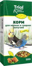 Корм д/попугаев TRIOL С медом д/мелк.и сред. 500г