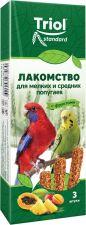 Лакомство д/попугаев TRIOL С фруктами д/мелк.сред. 80г