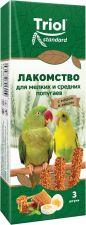 Лакомство д/попугаев TRIOL С медом и яйцом д/мелк.сред. 80г