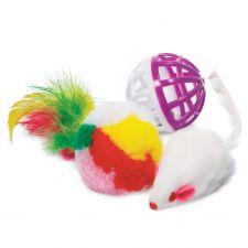 Игрушка д/кошек TRIOL Мышка с игрушкой