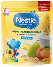Д/п каша NESTLE молочная мультизлаковая с грушей и персиком с 6 мес 220г