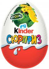 Яйцо шоколадное KINDER Сюрприз из молочного шоколада с игрушкой 20г