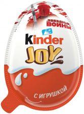 Изделие кондитерское KINDER JOY с игрушкой вафельные хруст шарики покрытые какао в креме 20г