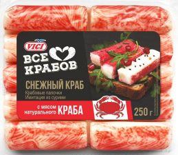 Крабовые палочки VICI с мясом натурального краба (имитация из сурими) охл 250г
