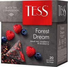 Чай черный TESS Форест Дрим к/уп 20пир