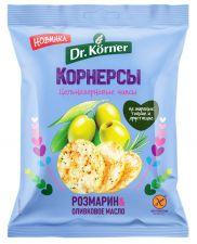 Чипсы цельнозерновые DR KORNER Кукурузно-рисовые с оливковым маслом и розмарином 50г