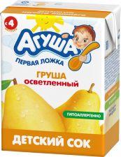 Д/п сок АГУША Груша детский осветленный с 4 мес 200мл