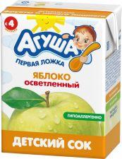 Д/п сок АГУША яблоко осветленный с 4 мес 200мл