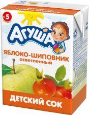 Д/п сок АГУША яблоко-шиповник с 5мес 200мл