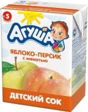 Д/п сок АГУША яблоко-персик с 5 мес 200мл