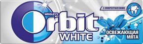 Жев. резинка ORBIT Белоснежный Освежающая мята с ароматом перечной мяты драже 13,6г