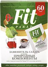 Заменитель сахара FITPARAD N7 смесь пищевая сладкая на основе эритритола саше 60шт 60г