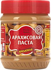 Паста арахисовая АГЕНТ-ПРОДУКТ кремовая Peanut Butter 340г