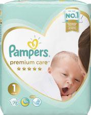 Подгузники PAMPERS Premium Care Newborn 2-5кг Экономичная Упаковка 72шт