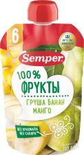 Д/п пюре SEMPER Груша Банан Манго 110г