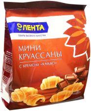 Мини-круассаны ЛЕНТА С кремом какао 180г