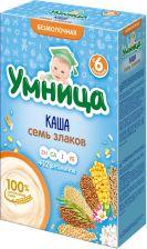 Д/п каша УМНИЦА б/молочная 7 злаков с 6 мес 200г