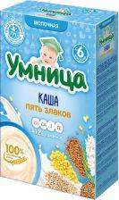 Д/п каша УМНИЦА молочная 5 злаков с 6 мес 200г