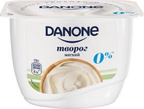 Творог DANONE мягкий Натуральный 0% форм.ст. без змж 170г