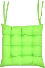 Подушка д/стула GIARDINO CLUB 40х40х6 см с водоотт.покрытием,п/э,серый,зеленый