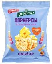 Чипсы цельнозерновые DR KORNER Кукурузно-рисовые с сыром 50г