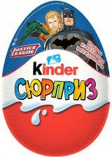 Яйцо шоколадное KINDER Сюрприз из молочного шоколада с игрушкой (Мультфильмы) 20г