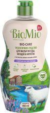 Средство д/мытья посуды BIOMIO Экологичное с эфир масл лаванды экстракт хлопка и ионами сер 450мл