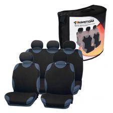Чехол на сиденье PHANTOM черный комплект (передн, задн, подг)