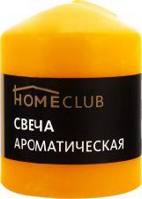 Свеча HOMECLUB аромат. столбик 7х9см манго (Россия) HOME CLUB аромат. столбик 7х9см манго