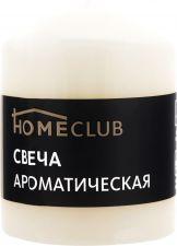 Свеча HOMECLUB аромат. столбик 7х9см ваниль (Россия) HOME CLUB аромат. столбик 7х9см ваниль