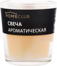 Свеча HOMECLUB аромат. в стакане ваниль (Россия) HOME CLUB аромат. в стакане ваниль