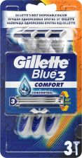 Бритвы GILLETTE DISPOSABLE Blue однораз. 3шт
