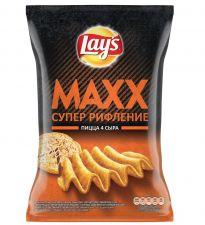 Чипсы LAY'S MAXX Пицца 4 Сыра 145г