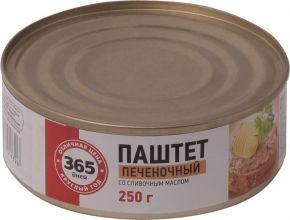 Паштет 365 ДНЕЙ печеночный со сливочным маслом 250г