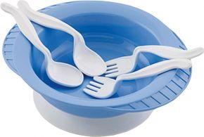 Тарелка дет с набором вилок и ложек