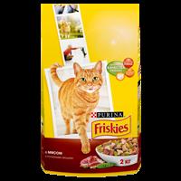 Корм для взрослых кошек FRISKIES Purina с мясом/печенью/курицей/овощами полнорац.сух.