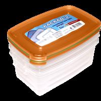 Комплект контейнеров для СВЧ ПОЛИМЕРБЫТ Каскад2 1л с57001