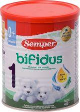 Д/п смесь SEMPER 1 Бифидус молочная с 0 мес ж/б 400г