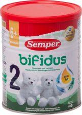 Д/п смесь SEMPER 2 Бифидус молочная с 6 мес ж/б 400г