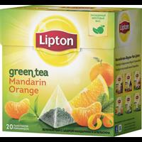 Чай зеленый LIPTON Байховый Mandarin Orange Green Tea Цедрой цитрус. аром. к/уп