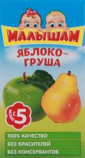 Д/п нектар МАЛЫШАМ яблочно-грушевый неосветл д/питания детей раннего возраста 125мл