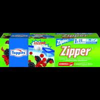 Пакеты для хранения TOPPITS д/транспортир,замораживания 15шт*1л с застёжкой 6623388